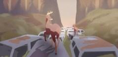 Jogo Way to the Woods - os dois cervos