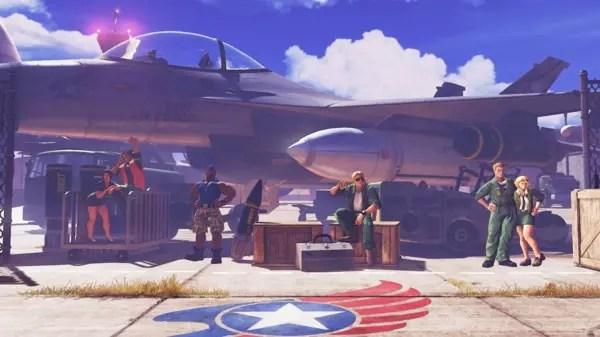 Base da força aérea em Street Fighter V