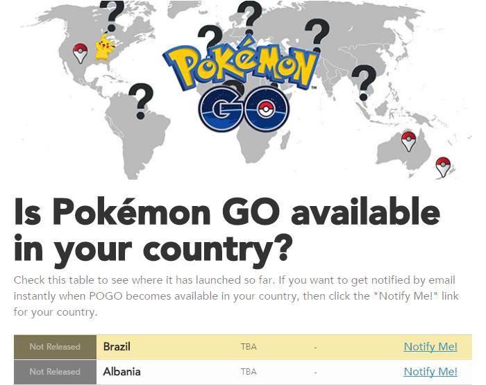 Lista de países onde Pokémon já foi lançado