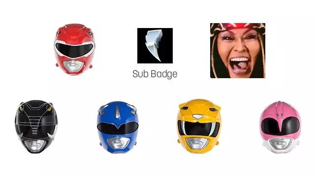 Emoticons do Power Ranger no Twitch