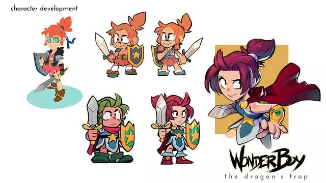 Wonder Boy remake nova personagem