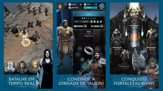 Middle-earth Shadow of War mobile imagens da gameplay