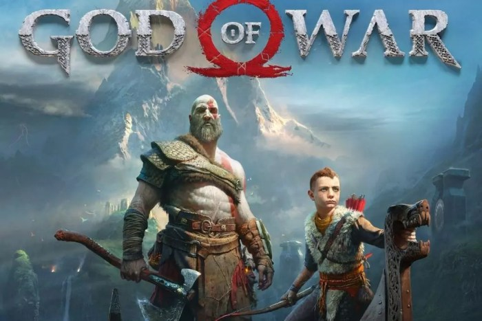 Capa principal do God of War 2018