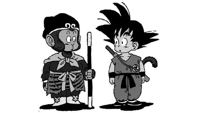 Su Wukong e Goku de Dragon Ball