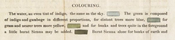 Colouring instruction - 1824