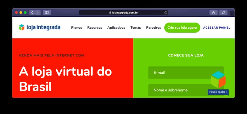 Site Web de la boutique intégré