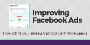 Improving Facebook Ads - Chris Guillebeau example