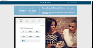 Obama landing page optimization - example 2