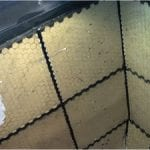 Ceramic Rubber lining panels on a conveyor system