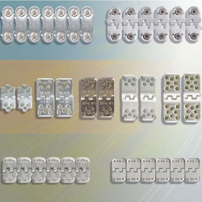 Assortment of conveyor belting fasteners available from Davis Industrial