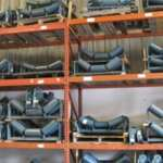 Wall of idlers stocked in Davis Industrial Tampa Warehouse