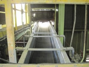 view of new stainless steel conveyor system