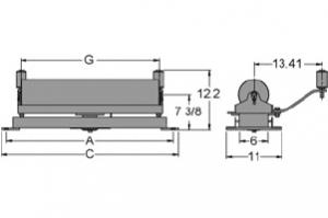 Diagram of self aligning flat carrier idlers