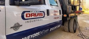 Davis Industrial Truck parked outside of job site