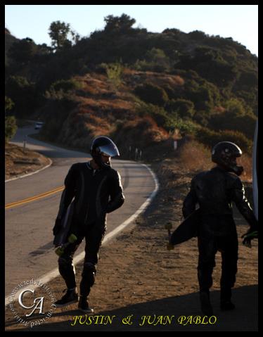 Down Hill Skate boarding