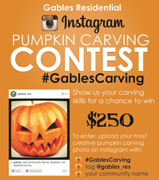 Example of Instagram special offer from Gables Residential