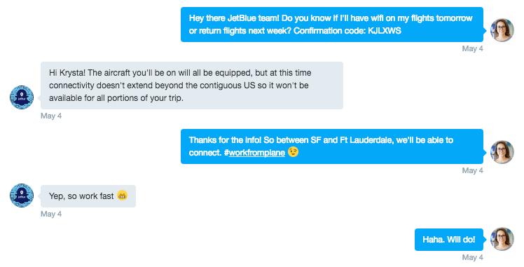 JetBlue messaging