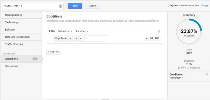 Google Analytics segmentation 4
