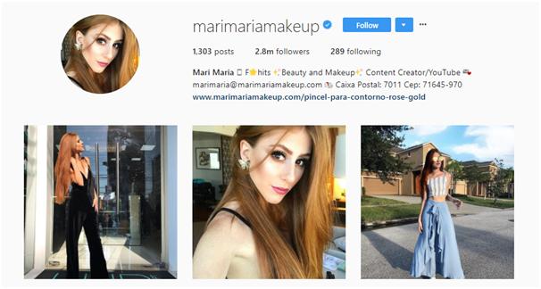 Instagram beauty influencer