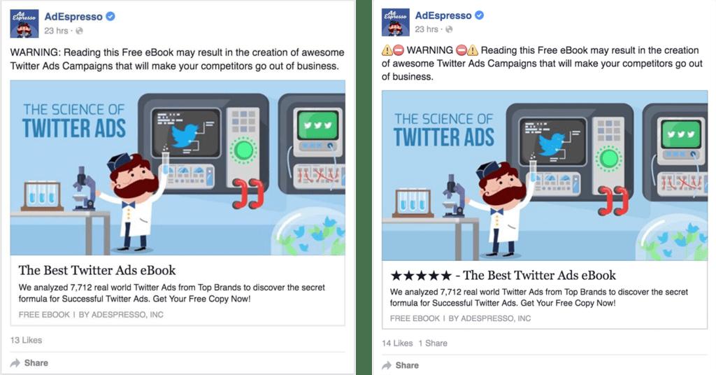 Emojis in ad copy