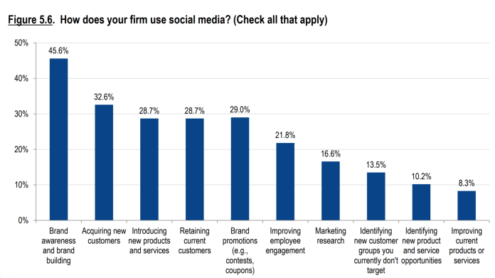 How firms use social media
