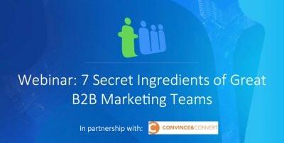 great b2b marketing teams