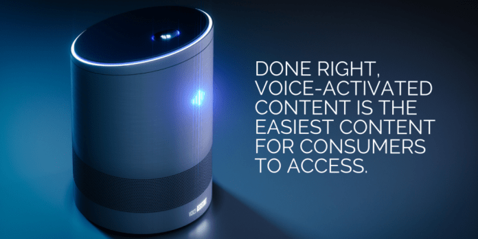 Voice activated content