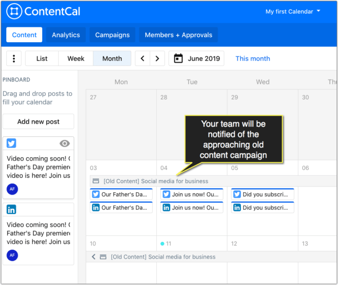 contentcal calendar