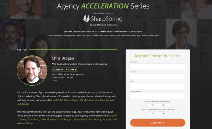 This is a content marketing example from SharpSpring