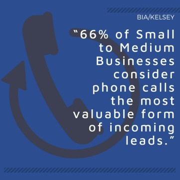 Phone calls are the most valuable form of incoming leads