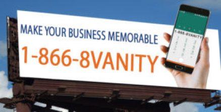 Vanity number billboard