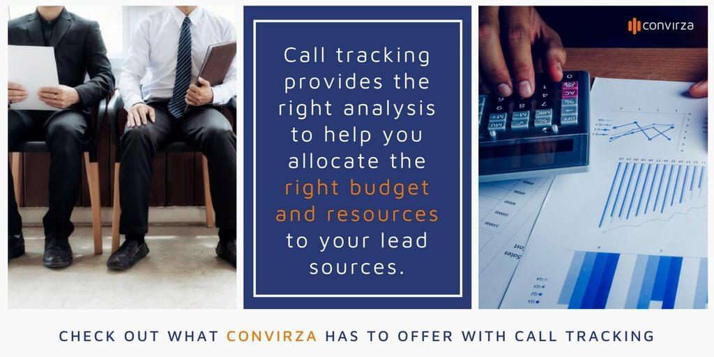 phone call analytics and call tracking