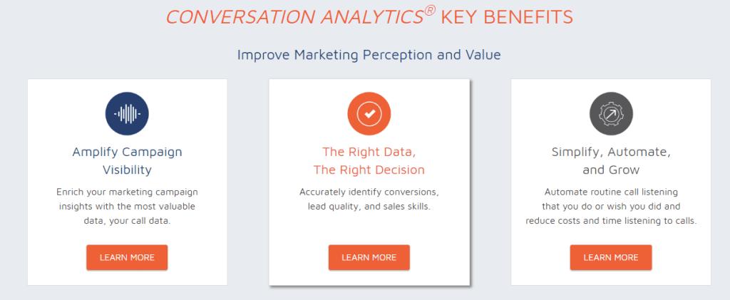 call measurement and conversation analytics