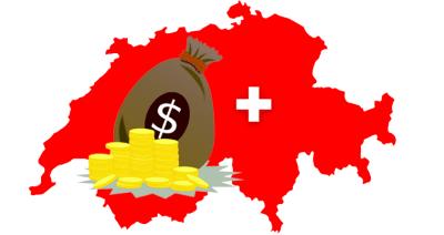 Geldsack Münzen Dollar Schweiz
