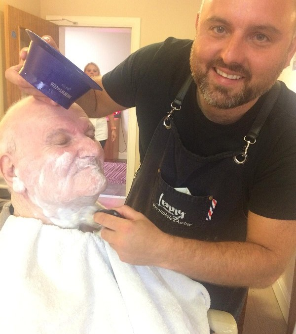 Lenny, the Dementia friendly barber visits our Antrim residents