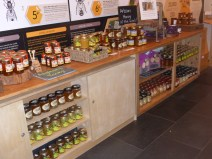 Welsh honey for sale at the Bees Wales Visitor Centre, now closed alas.