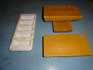 6. Large blocks of beeswax ready for sale