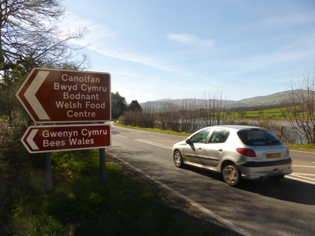Signpost on the A470