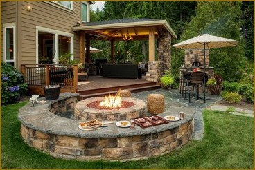 Amazing Backyard Seating Design Ideas 08