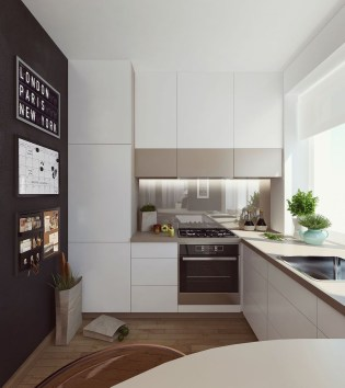 Beautiful Modern Small Apartment Design Ideas 23