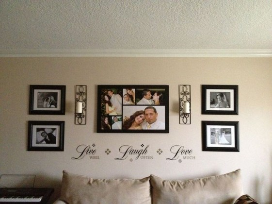 Cozy Gallery Wall Decor Ideas For Bedroom 13