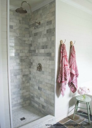 Creative Master Bathroom Shower Remodel Ideas 26
