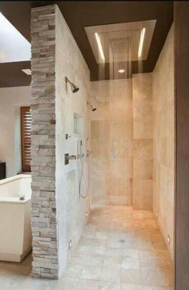 Creative Master Bathroom Shower Remodel Ideas 32