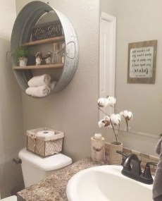 Gorgeous Rustic Farmhouse Bathroom Decor Ideas 14
