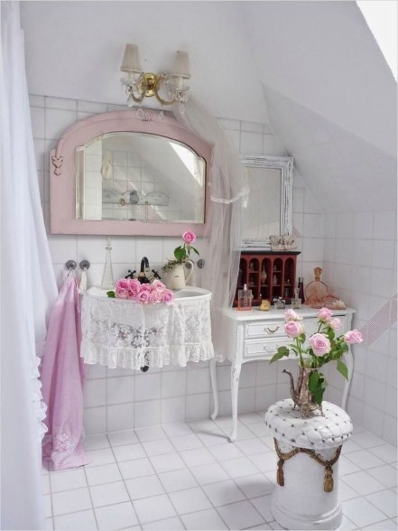 Stunning Vintage Bathroom Decor Ideas Trends 2018 41