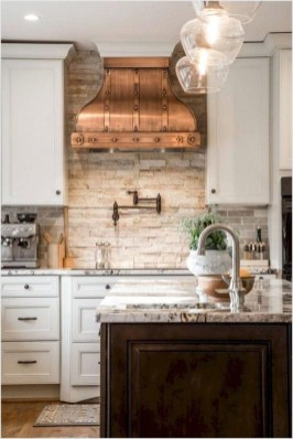 Cute Farmhouse Kitchen Backsplash Ideas 16