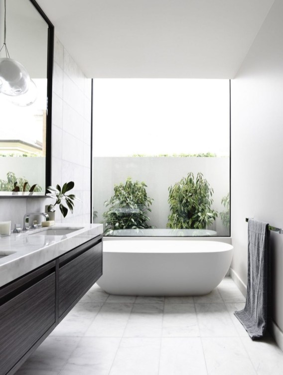 Adorable Contemporary Bathroom Ideas To Inspire 56