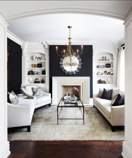 Incredible White Walls Living Room Design Ideas 46
