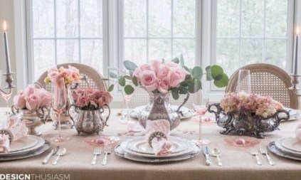 Charming Dining Room Decor Ideas For Valentines Day 29