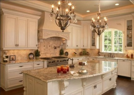 Delightful French Country Kitchen Design Ideas 44
